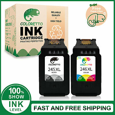 PG-245XL&CL-246XL Ink Cartirdge for Canon PIXMA TS3122 MX490 MX492 MG3022 MG2520