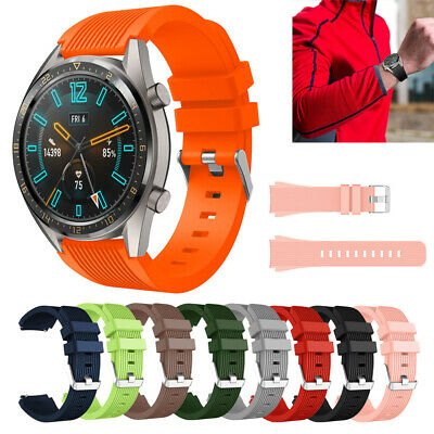 22mm Solid Soft Silicone Sport Watch Band Strap For Huawei Watch GT Wristband