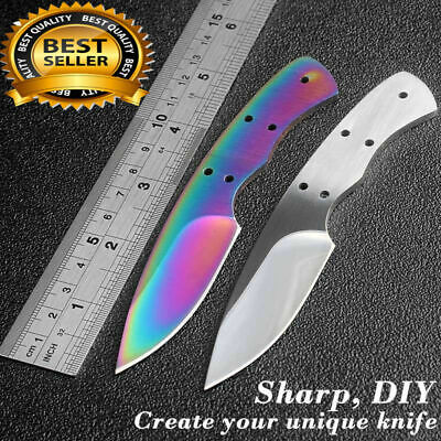 Survival Hunting Fixed Blade Knife Blanks 440c Stainless Steel DIY Blades EDC