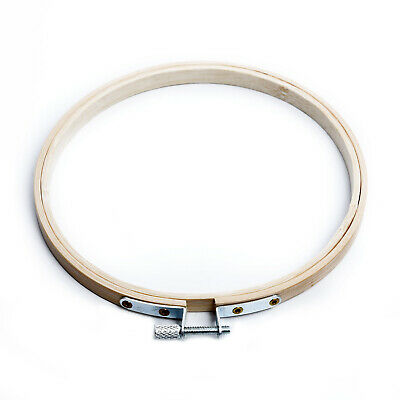 5pcs/Set Wooden Bamboo Embroidery Cross Stitch Tapestry Ring Hoop Round Frame
