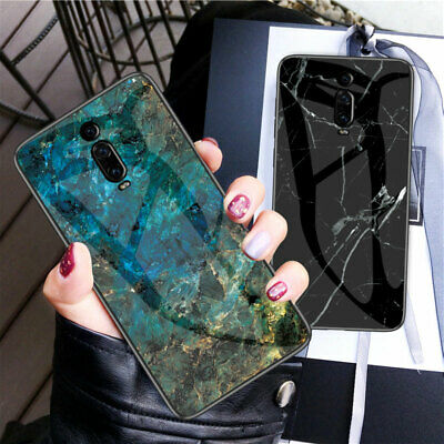 For Xiaomi Mi 9 SE 9T Play Case Luxury Marble Tempered Glass Hard Phone Cover