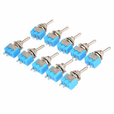 10pcs MTS-101 2 Pin SPST ON-OFF 2 Position 6A 250V AC Mini Toggle Switches Kit