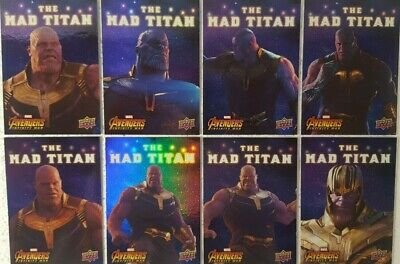 2018 Upper Deck Avengers Infinity War Trading Card Set of 10 MAD TITAN Thanos
