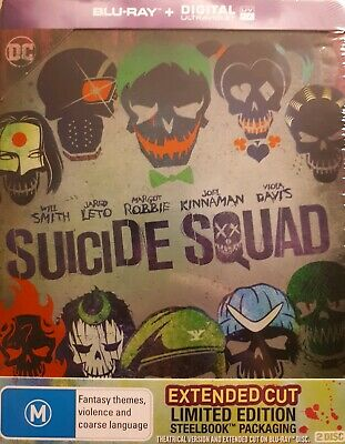 New & Sealed Suicide Squad - Limited Edition BluRay Steelbook 2 Disc Set + UV