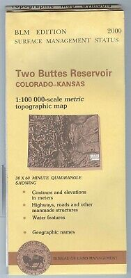 USGS BLM edition topographic map Colorado Kansas TWO BUTTES RESERVOIR 2000 100K