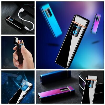 Dual Arc Electronic Lighter USB Metal Windproof Flameless Electric Lighter