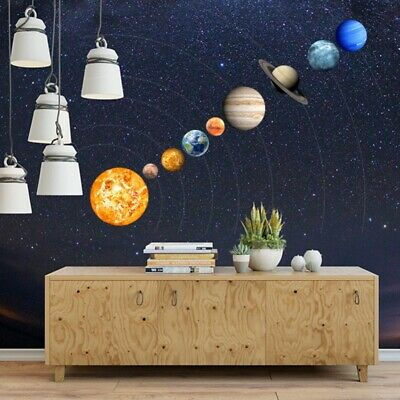 Glow In The Dark 9# Planets Solar System Wall Stickers Decal Kids Room Decor US