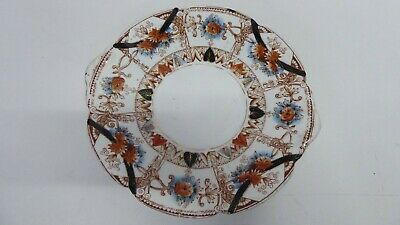 Antique Victorian Imari Style Hand Painted Porcelain Plate