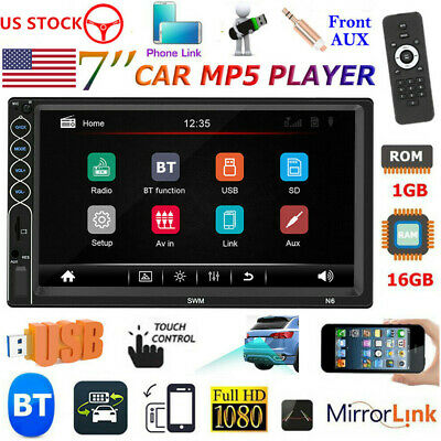 2Din 7 inch Car Stereo Radio MP5 Player Touch Screen Bluetooth FM Backup Camera