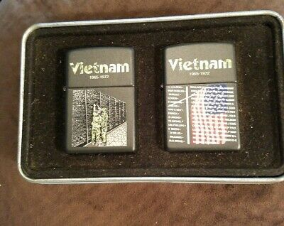 EXTREMELY HTF Limited Edition VIETNAM WALL Zippo Lighters GIFT SET
