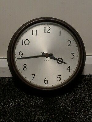 S Smith & Sons GPO *GENERAL POST OFFICE* Bakelite Wall Clock *FOR REPAIR* 1940s