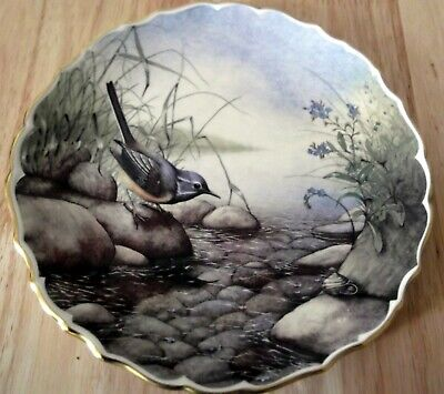 Spode Decorative Plate British Birds Grey Wagtail No 4 Fine bone china Brand New