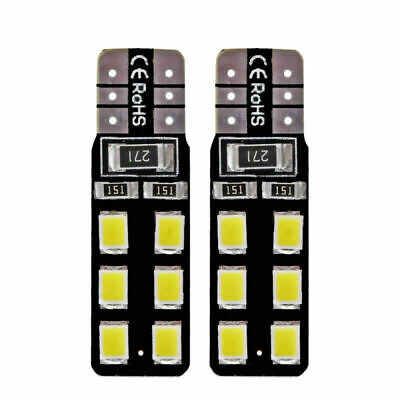 6Pcs White Light T10 LED 2835-12 SMD CANBUS ERROR FREE W5W 194 168 Door Map Bulb