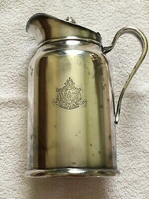 Vintage The Beverly Hills Hotel Reed & Barton Soldered Silver Insulated Pitcher