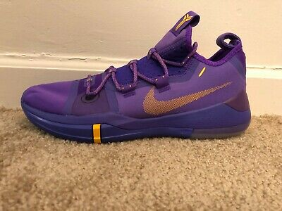 best sneakers 40312 d4789 NIKE KOBE AD Hyper Grape/University Gold Lakers away(AR5515-500)Sz 11 Men  New!!