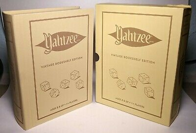 Yahtzee Vintage Bookshelf Edition - Hasbro / WS Game Company - NEW IN BOX!