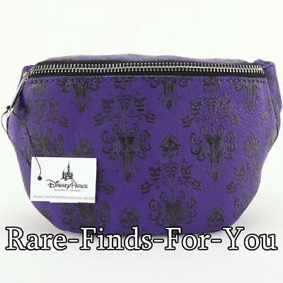 Disney Theme Parks Haunted Mansion Wallpaper Loungefly Hip Fanny Pack (NEW/TAGS)