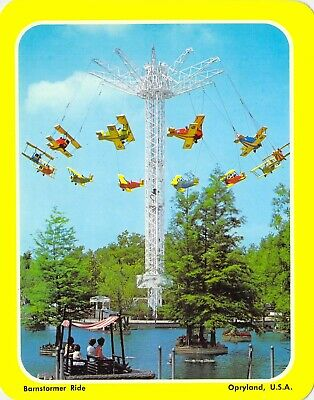 postcard BIG 5.25x6.75 BARNSTORMER RIDE Opryland, USA Nashville, TN