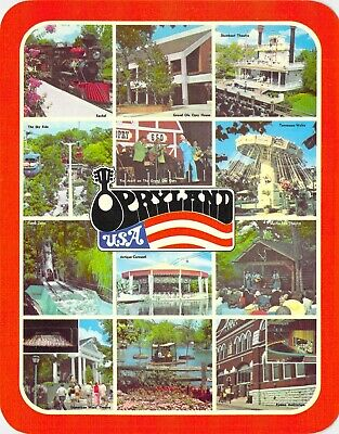 postcard BIG 5.25x6.75 MULTI-VIEW Opryland, USA Nashville, TN