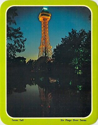 postcard  5.25x6.75 300 ft TEXAS TALL TOWER Six Flags Over Texas Arlington, TX