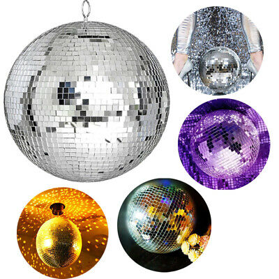 Mirror Disco Ball Party Lights laser disco lights glass Silver Dance Party 30cm