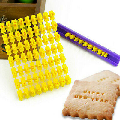 Alphabe Cookie Stamp - Biscuit Cookie Letter Number Cake DIY Mould
