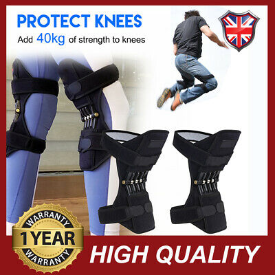 2x Patella Booster Spring Knee Brace Support Mountaineering Squat Sport Gym UK