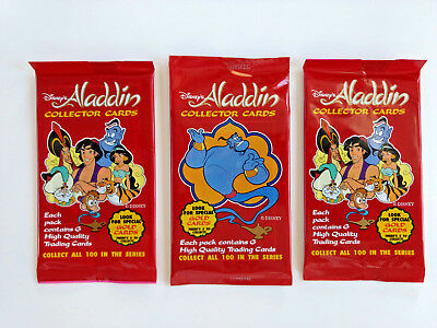 1992 Dynamic Marketing Disney's Aladdin Collector Cards LOT OF 3 UNOPENED PACKS