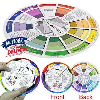 Artists Artist Pocket Colour Wheel Mixing Guide AZ