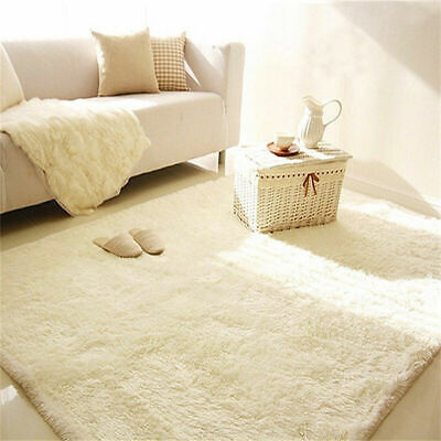 Large Shaggy Floor Rug Plain Soft Area Mat Thick Mat Home Bedroom Living Room UK