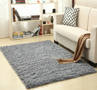 200cm Fluffy Rugs Anti-Skid Shaggy Rug Dining Room Carpet Floor Mat Home Bedroom