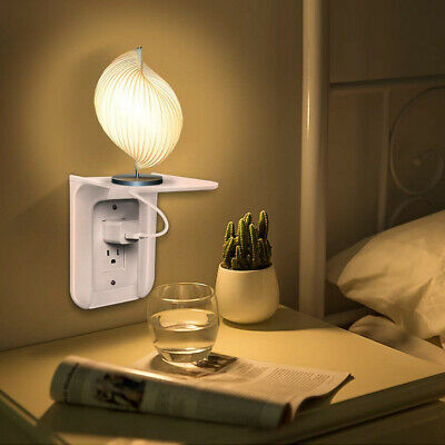 Wall Outlet Shelf Power Charging Home Speaker Cell Phones Storage Rack US Stock