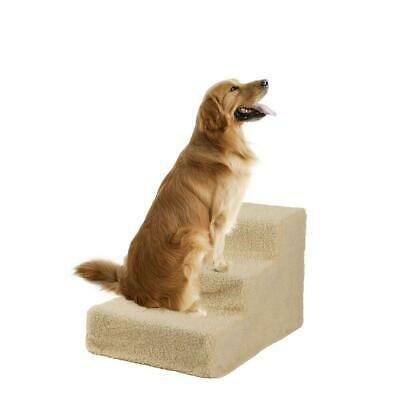 New Soft Portable Cat Dog 3 Steps Ramp Small Climb Pet Step Stairs 2 Colors