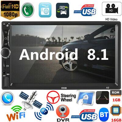 7in 2Din Android8.1 Car GPS Navigation Stereo Quad Core WiFi BT Radio MP5 Player