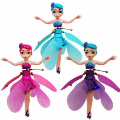 Girls Flying Fairy Princess Dolls Magic Infrared Induction Control Toy Xmas Gift