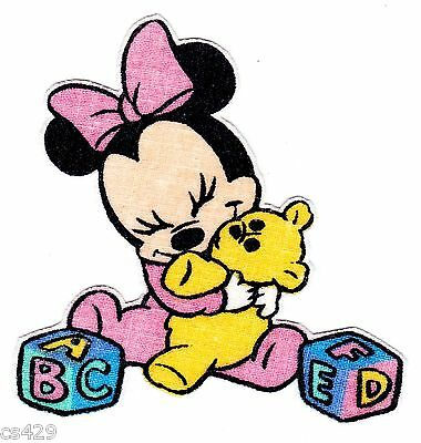 """3"""" Disney babies baby minnie rocking horse  fabric applique iron on character"""