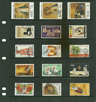 Commonwealth Uganda     Africa  6  stock sheets large   collection stamps
