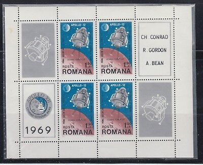 Romania 1969 Apollo 12 Space Sc 2137 complete sheet  mint never hinged