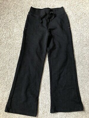 Girls Black PE School Joggers Age 6-7 Years
