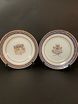Two Chinese Ceramic Armorial Plates