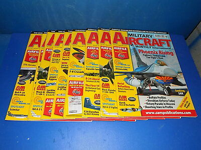 Military Aircraft Monthly Magazine w/ Airfix Airfiles - Select From Back Issues