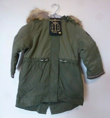 Matalan 3 in 1 Borg Bomber Parker Jacket Coat Age 3 or 4 Years BNWT £35.95 Green