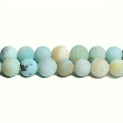 Amazonite Round Beads 6mm Multicolour 10 Pcs Frosted Gemstones Jewelry Making