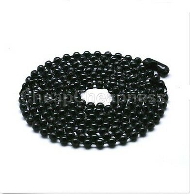 Fashion Military Mens Necklace Ball Bead Chain Link For Dog Tag & PendanHEP