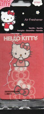 Hello Kitty - Car Air Freshener - Vanilla                       *New And Sealed*