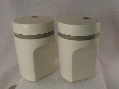 Vintage Tupperware Salt & Pepper Shaker Set #1471 Almond Color Made in USA