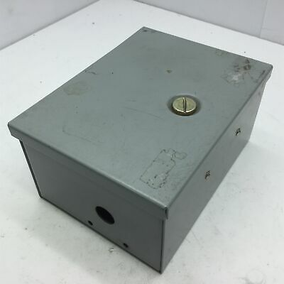 "Hoffman A8N64 Small Type 1 Electrical Enclosure, Steel, 8x6x4"", *Holes"