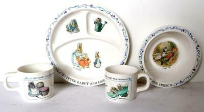 Vintage Eden PETER RABBIT AND FRIENDS PLATE BOWL & CUPS F. Warne & Co