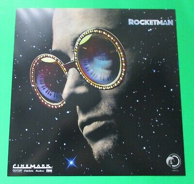 "ROCKETMAN ELTON JOHN 3x CINEMARK PROMO MOVIE POSTERS 12"" x 12"" 2019 LE FREE SHIP"