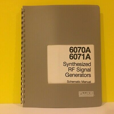 FLUKE 6070A 6071A Generator Complete 4 Volume Set Operating